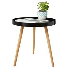 Perfect for a range of interiors and rooms, this round Round Side Tray Table offers stylish durability for any space within your home. Target Room Decor, Office Nook, Round Side Table, Rattan, Home Remodeling, Hardwood, Interior Decorating, Table Settings, Tray