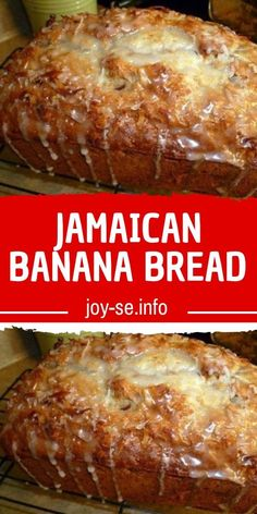 JAMAICAN BANANA BREAD Banana bread remains one of Jamaica's favourite pastries! It's truly a mouth-watering Jamaican dessert that has been passed down from generation to generation. Jamaican Desserts, Jamaican Recipes, Banana Bread Recipes, Cake Recipes, Dessert Recipes, Jamaica Banana Bread Recipe, Banana Bread Cookies, Homemade Banana Bread, Recipe For Bread