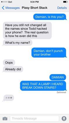Tim Drake and Dick Grayson texts, superhero texts (bat family, bat