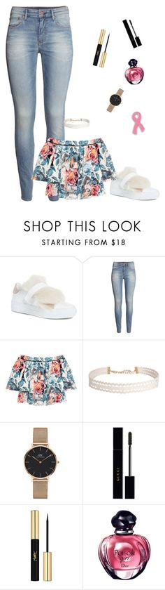 """Sans titre #767"" by tutu-81 ❤ liked on Polyvore featuring Moncler, H&M, Elizabeth and James, Humble Chic, Daniel Wellington, Gucci and Yves Saint Laurent"