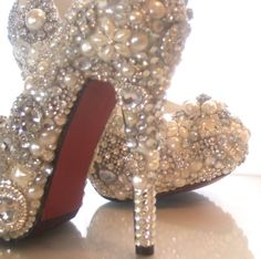 diy project! Pearl shoes for my wedding! beloved25