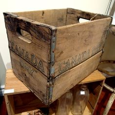Vintage Wood Crate - Canada Dry $50 - Toronto http://furnishly.com/catalog/product/view/id/3479/s/vintage-wood-crate-canada-dry/