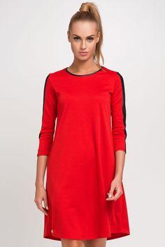 Makadamia M237 Sukienka - czerwony