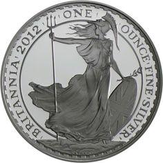 2 Pfund Silber 1 Unze Britannia 2012 PP
