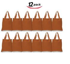 6139edc06099 BagzDepot Canvas Tote Bags Wholesale - 12 Pack - Plain Cotton Tote Bags in  Bulk