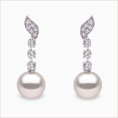 903b9fc8c Yoko London 18ct white gold south sea pearl and diamond earrings, from our  Mayfair collection