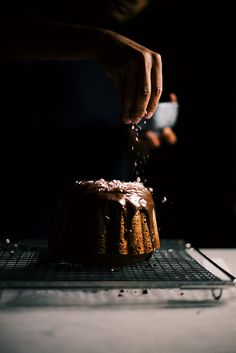 peppermint mocha bundt cake (butter free) | A Brown Table, food photography, food styling, cake photography