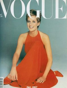 Diana on British Vogue, the memorial cover  Beautiful lady, sorely missed.