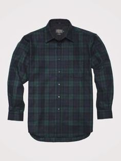 Pendleton Mens Long Sleeve Button Front Classic Lodge Shirt Black Watch Tartan30069 XL * Visit the image link more details. (This is an affiliate link)