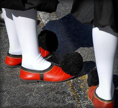 """""""The """"tsarouhi"""" is a shoe with a history which begins during the time of Homer… Go Greek, Greek Life, Greek Traditional Dress, Greek Costumes, Greek Soldier, Unknown Soldier, Greek Culture, Folk Costume, My Heritage"""