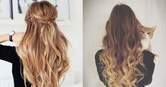 Extension Cheveux Tie and Dye, Ombré Hair Cheveux Ombré Hair, Ombre Hair, Hair Ties, Hair Beauty, Long Hair Styles, Blog, Clothes, Half Up, Silky Hair