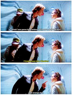 Han Solo (Harrison Ford) and Princess Leia (Carrie Fisher) didn't get along so great in the beginning. (Star Wars)