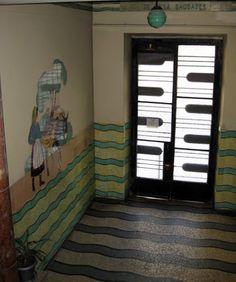 Lusitania tiles - Modernist foyer - Lisbon.