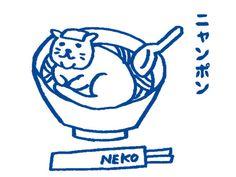 長崎ちゃんぽんを猫キャラクター化した「ニャンポン」