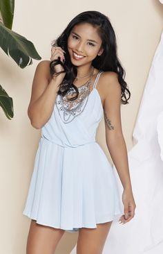 Zoraya Playsuit Baby Blue | Beginning Boutique
