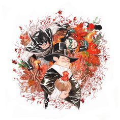 Little Gotham Thanksgiving! by *duss005 on deviantART