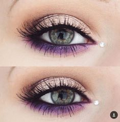 45 Most Stunning and Eye-Catching Purple Makeup for Eyes makes you unforgettable. - 45 Most Stunning and Eye-Catching Purple Makeup for Eyes makes you unforgettable in Prom – Page 7 - Purple Eye Makeup, Eye Makeup Tips, Makeup Trends, Makeup Ideas, Purple Makeup Looks, Purple Nail, Makeup Hacks, Makeup Tutorials, Makeup Products