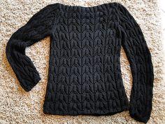 Ravelry: 16 White Lacy Rib Sweater pattern by Rebecca Design Team