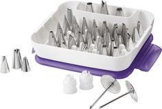 Wilton Master Decorating Tip Set, 55-Piece decorating tips, 2104-0240 ** Remarkable discounts available  : Baking desserts tools