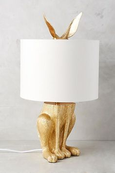 Anthropologie Gilded Hare Lamp Ensemble #anthrofave #anthroregistry