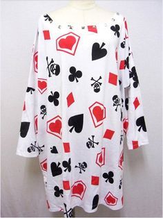 NEW Playing Card Pattern BIG T-Shirt available at http://www.cdjapan.co.jp/apparel/new_arrival.html?brand=SLV