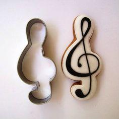 Violinkulcs sütikiszúró forma, sütemény kiszúró. Mézeskalács formák - több mint 200 féle raktárról - a gasztroajándék webáruházban, gyere nézd meg Te is! Cookie Cutters