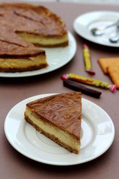 Cheesecake au carambar et petit-beurre