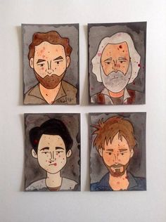 Tiny Watercolor Paintings of The Walking Dead - MORE ART, LESS CRAFT