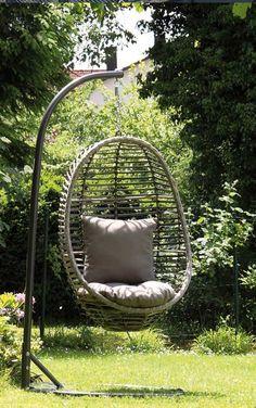 Luxury Moderne H ngem bel f r den Garten H ngem bel in der Farbe Anthrazit Acamp Samoa H ngesessel