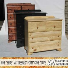 AV Produkte / AV Products has a wide range of bedroom furniture, like these beautiful bedroom drawers. Call us on 044 874 6434 #furniture #bedroom