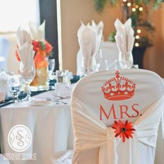 "This Simply Said design uses iron on vinyl. And even better, there's a ""Mr."" design, too! Choose from over 60 colors! Perfect for the special seats at the head table!"