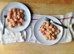{Spicy} Tomato Basil Cream Sauce + Cappello's {grain free} Gnocchi - With Food + Love