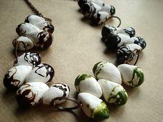 Paperclay beads by zsazsazsu
