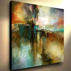 Large Abstract Art Giclee canvas print PAINTING Contemporary DECOR Mix Lang
