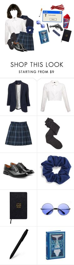 """""""you're beautiful"""" by surprise-sidney ❤ liked on Polyvore featuring Topshop, Charlotte Russe, Church's, Natasha, Smith & Wesson, Nomadic, Moleskine and veronicasawyer"""