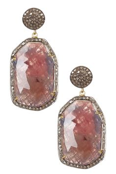 Rivka Friedman Red Sapphire & Champagne Diamond Earrings on HauteLook