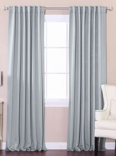 Best Home Fashion Solid Thermal Insulated Blackout Curtain, BRAND NEW