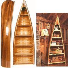 17 Simple Ways To Repurpose A Canoe Canoe Shelf, Canoa Kayak, Living Pequeños, Wood Canoe, Canoe And Kayak, Canoe Trip, Lakeside Living, Kayak Storage, Lodge Style