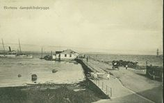 Vestfold fylke Horten Dampskibsbryggen tidlig 1900-tall