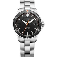 Baume & Mercier Men's Swiss Automatic Clifton Club Stainless Steel... ($2,100) ❤ liked on Polyvore featuring men's fashion, men's jewelry, men's watches, silver, mens stainless steel watches, mens watch bracelet, mens watches jewelry, mens bracelet watch and baume mercier mens watches