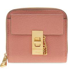 CHLOE Drew lamb leather wallet