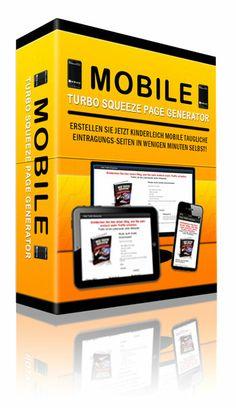 Ein tolles Tool der MOBILE Turbo Squeeze Page Generator! (Seiten auch für mobile Kunden einfach erstellen)  Jetzt ganz einfach Webseiten erstellen, die sich automatisch an die Bildschirmgröße anpassen, auch bei Smartphones! Jetzt erstellen Sie einfach mit diesem neuen Generator Eintragungsseiten die sich an die Größe eines Monitors, Tablett-PC oder dem Handy Bildschirm Ihres Webseiten-Besuchers automatisch anpassen.