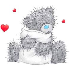 Tatty Teddy Valentine Clip Art - Tatty Teddy Bear Clip Art