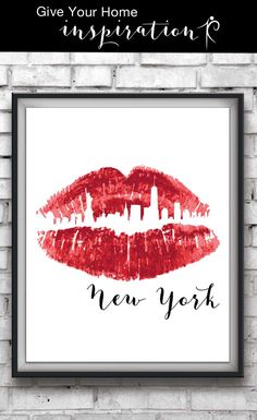 Fashion and travel go hand in hand with this makeup print. Enjoy the New York City Skyline with this lipstick kiss print also available in multiple colors and four city options of London, Paris, NYC and LA for $5.85. Style your makeup room, bedroom, or office with this lipstick skyline print available on Etsy by clicking the link: http://etsy.me/2aeFzhC