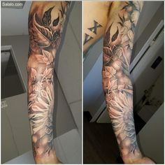 Finished this tropical flower sleeve today!!...at Tattoo Body Art  #tattoo  #tattooaddict         #tattoosbody   #bodyart  #tattoowork  #tattoos  #tattooforever #tattooforgirls #inktattoo         #inktattoos #inked   #tattooideas#sexytattoos #tattooedmen #tattooartists#tattooart #tattooforwomen