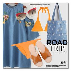 """""""Rev It Up: Road Trip Style"""" by svijetlana ❤ liked on Polyvore featuring Heidi Klein, Gucci, roadtrip and shein"""
