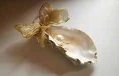 Large Pacific Oyster Shell Christmas Ornament by DriftwoodandPearl, $10.00