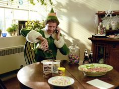 "THE BEST EVER CHRISTMAS MOVIE QUOTES ""We elves try to stick to the four main food groups: candy, candy canes, candy corns and syrup.""  Will Ferrell explains holiday nutrition in Elf (2003)."