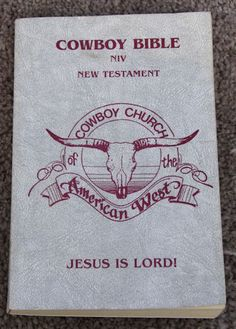 Cowboy Bible New Testament Cowboy Church American West