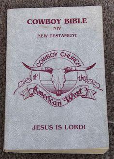 Cowboy Bible New Testament Cowboy Church American West